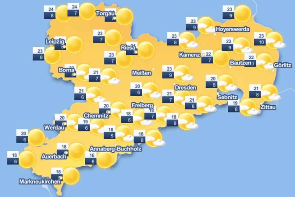 Ab Montag sollen die Temperaturen in Sachsen endlich richtig steigen!