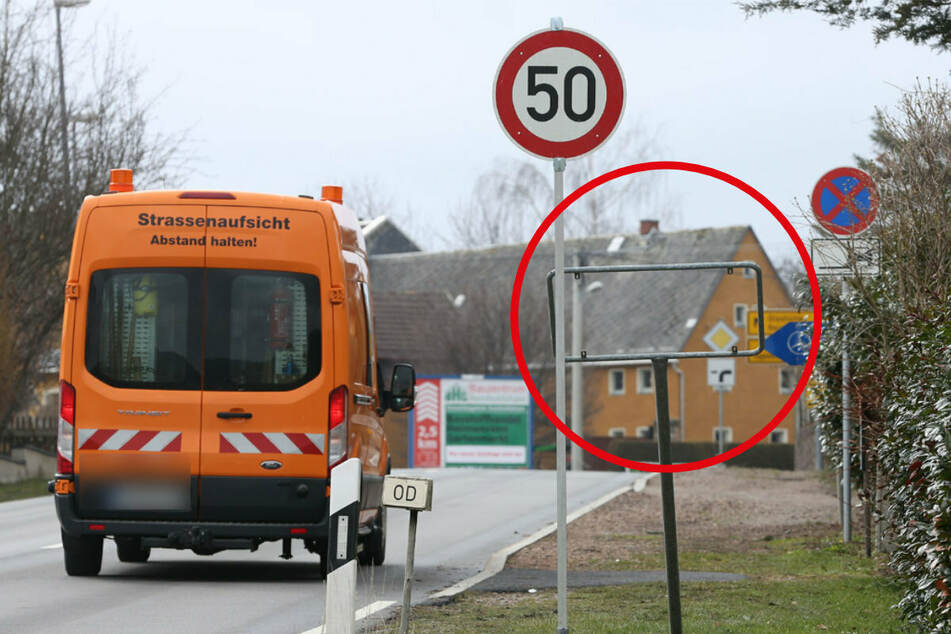 Dreister Diebstahl: Täter entwenden Ortsschilder von Oberhäslich, Polizei sucht Zeugen!
