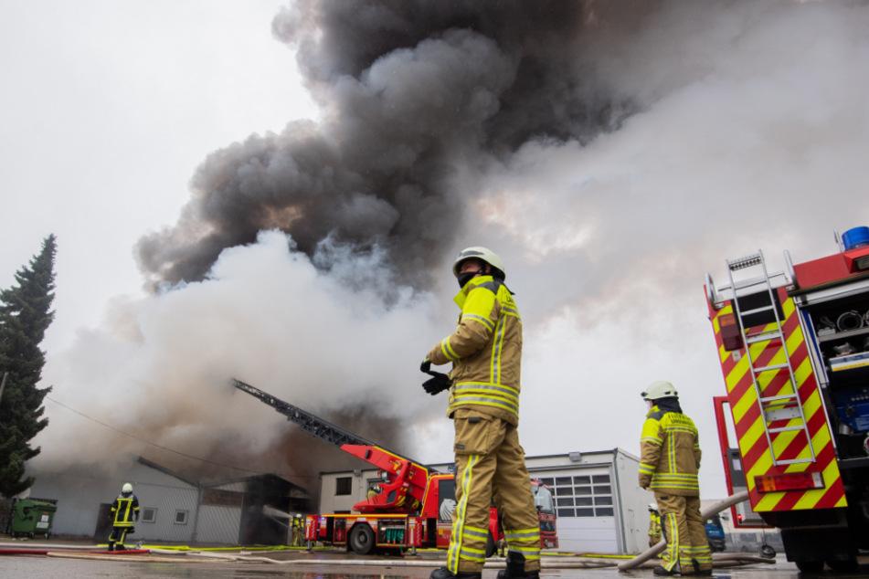 Mehr als 100 Feuerwehrleute kämpften gegen die Flammen.