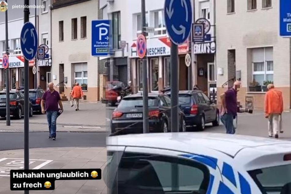 Ein Paparazzo verfolgt Pietro Lombardi (28) durch Köln. Als der Sänger ihn stellt, haut dieser sich frech auf den Po.