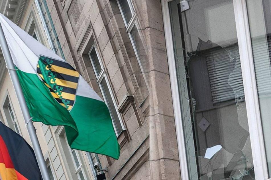 Hass auf Sachsen: Landesvertretung in Berlin angegriffen