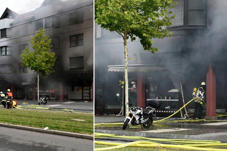 Aufnahmen der Feuerwehr zeigen den Einsatzort in der Landsberger Straße in Pasing.