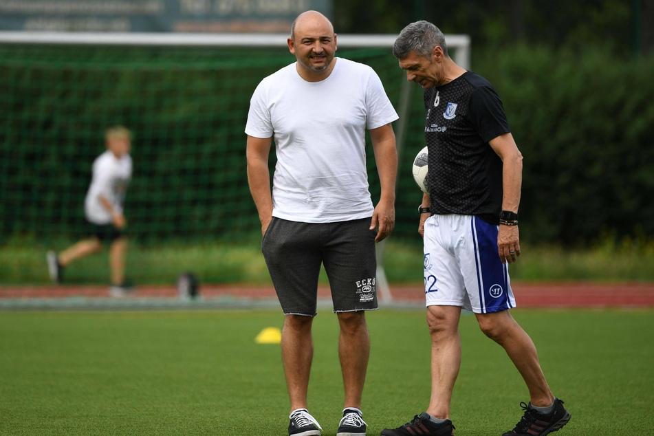 VSG-Manager Daniel Böhm (43, l.) und Trainer Karsten Heine (65).