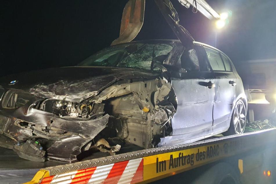 Ein BMW konnte nicht mehr ausweichen.