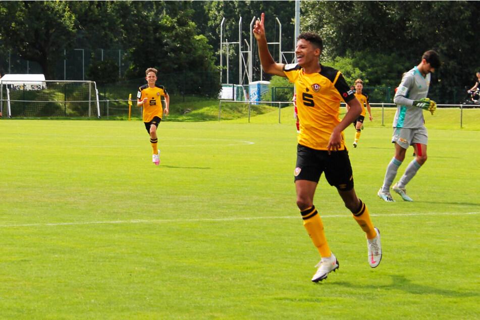 Dynamos U17-Stürmer Jonathan Akaegbobi durfte bereits sein drittes Saisontor im fünften Einsatz bejubeln. (Archivfoto)
