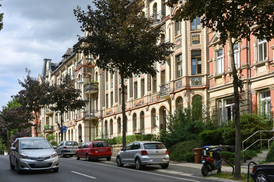 Auf dem Chemnitzer Kaßberg gibt es viele Altbauwohnungen mit prachtvollen Fassaden. Der Stadtteil zählt zu den größten Gründerzeit- und Jugendstilvierteln Deutschlands.