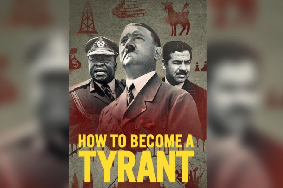 Das Poster zur Netflix-Serie zeigt die Konterfeie von Idi Amin (l.), Adolf Hitler (Mitte) und Saddam Hussein.