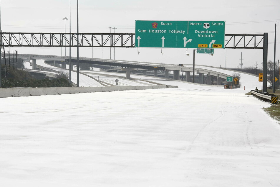 Highways across Texas were coated with snow and ice after a record-setting winter storm hit the state.
