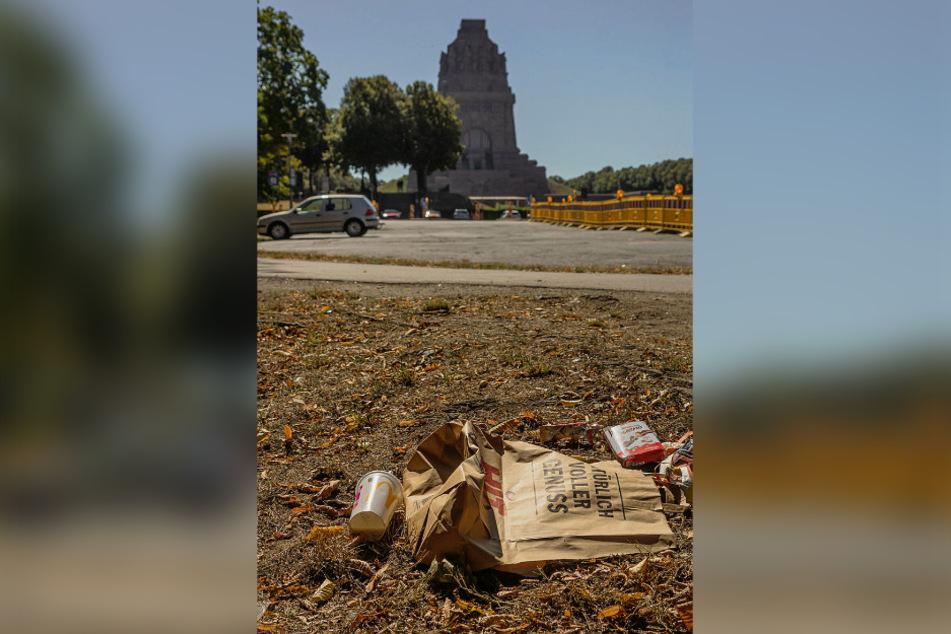 """Partyzone """"Völki"""": Auch die Stadt Leipzig klagt über die Müllzunahme auf ihren Grünflächen."""