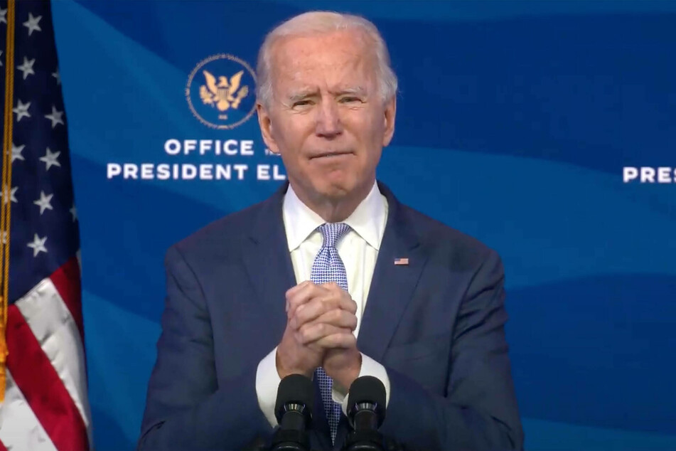 President-elect Joe Biden spoke to the nation from the Queen Theater in Wilmington, Delaware.