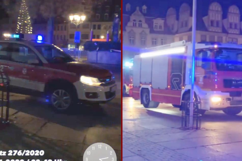 Die Freiwillige Feuerwehr Naumburg begleitete ihren Einsatz mit einer Facebook-Story.