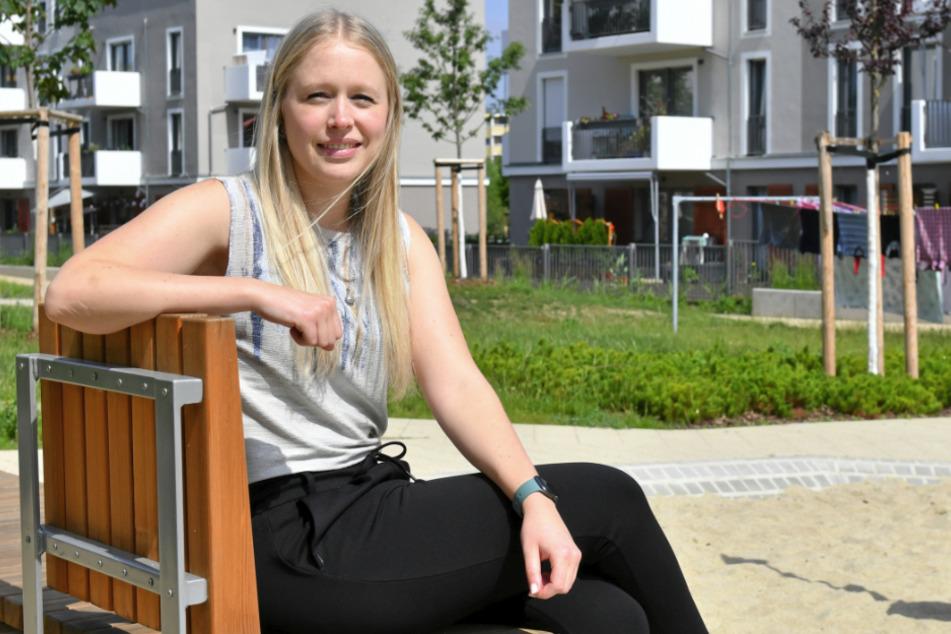 Mieterin Sarah Rumpf (28) fühlt sich in ihrem neuen Viertel wohl.