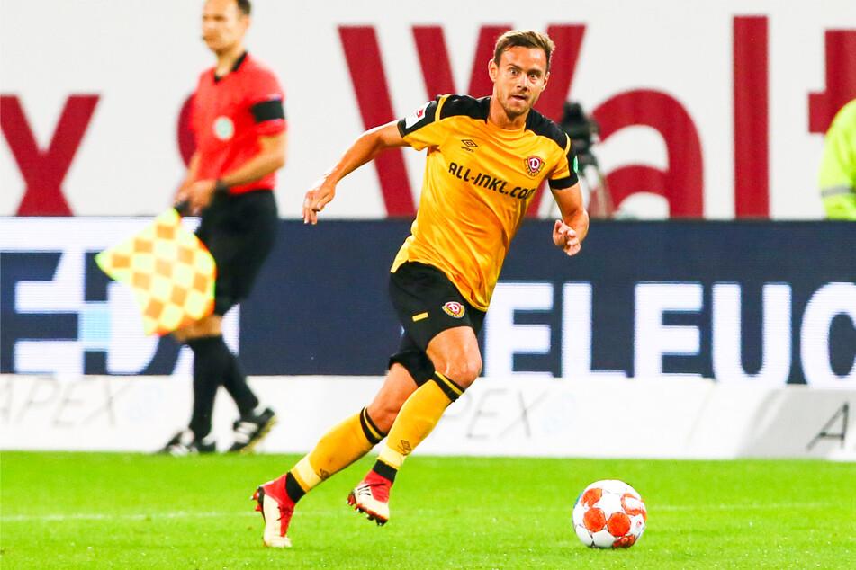 Chris Löwe (32) am Ball. Der Dynamo-Verteidiger ist seit Wochen in blendender Verfassung und aus der Dresdner Stammelf nicht wegzudenken.