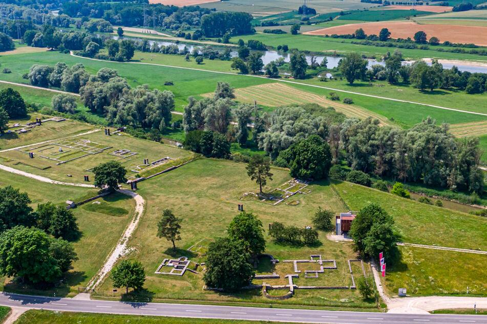 Das Römerkastell Abusina an der Donau. Die UNESCO hat den Donaulimes als Teil der Grenze des antiken Römischen Reiches als neues Welterbe ausgezeichnet.
