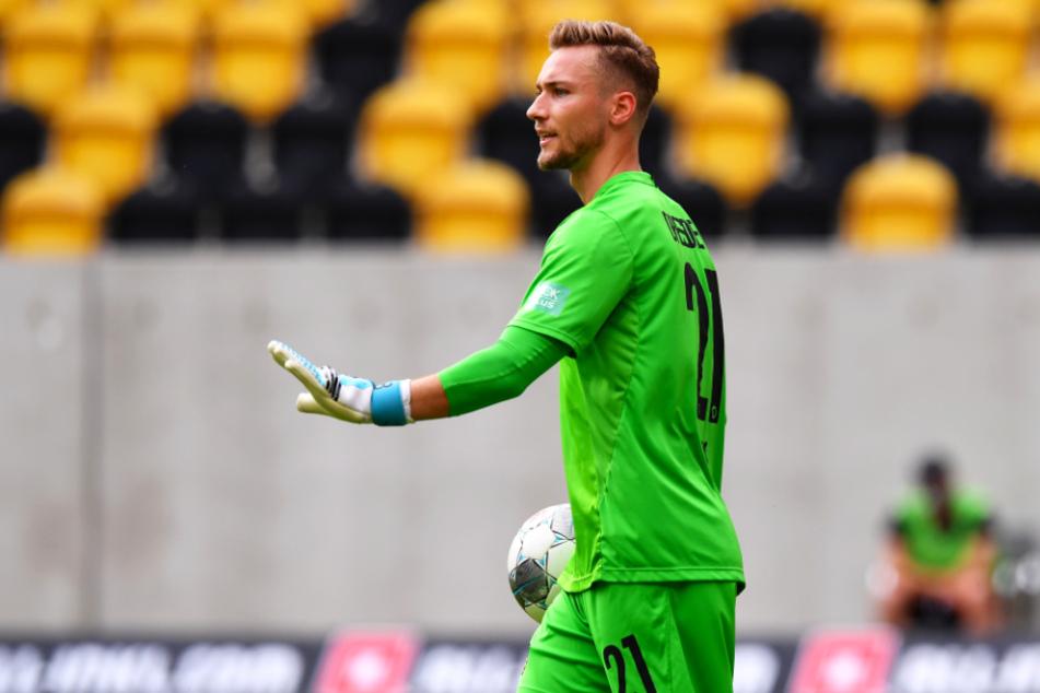 Tim Boss (27) kam erst am letzten Spieltag der Saison 2019/20 zu seinem ersten Pflichtspieleinsatz für Dynamo Dresden. Beim 2:2 gegen den VfL Osnabrück hütete er das SGD-Tor.