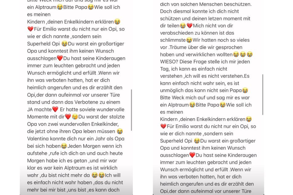 Bei Instagram findet Stefano Herren (27) emotionale Worte zum Tod seines Vaters Willi Herren (†45). (Fotomontage)
