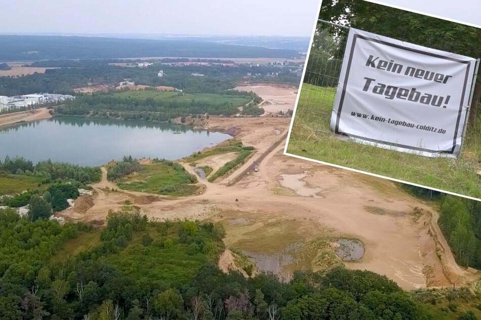 Leipzig: Protest im Landkreis Leipzig: Kies-Tagebau soll durch Naturschutz-Gebiet führen