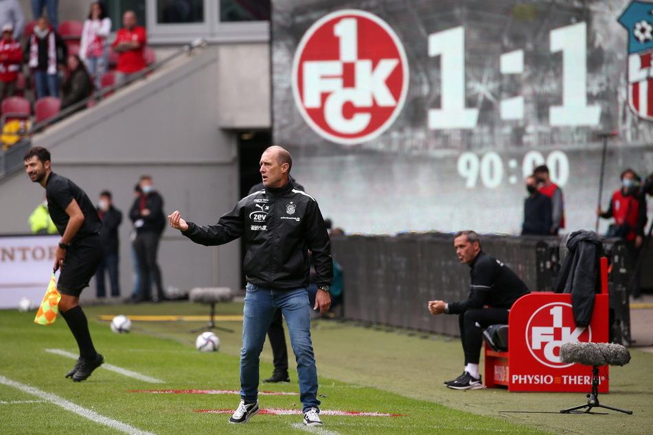 Engagiert an der Seitenlinie: FSV-Coach Joe Enochs (49).