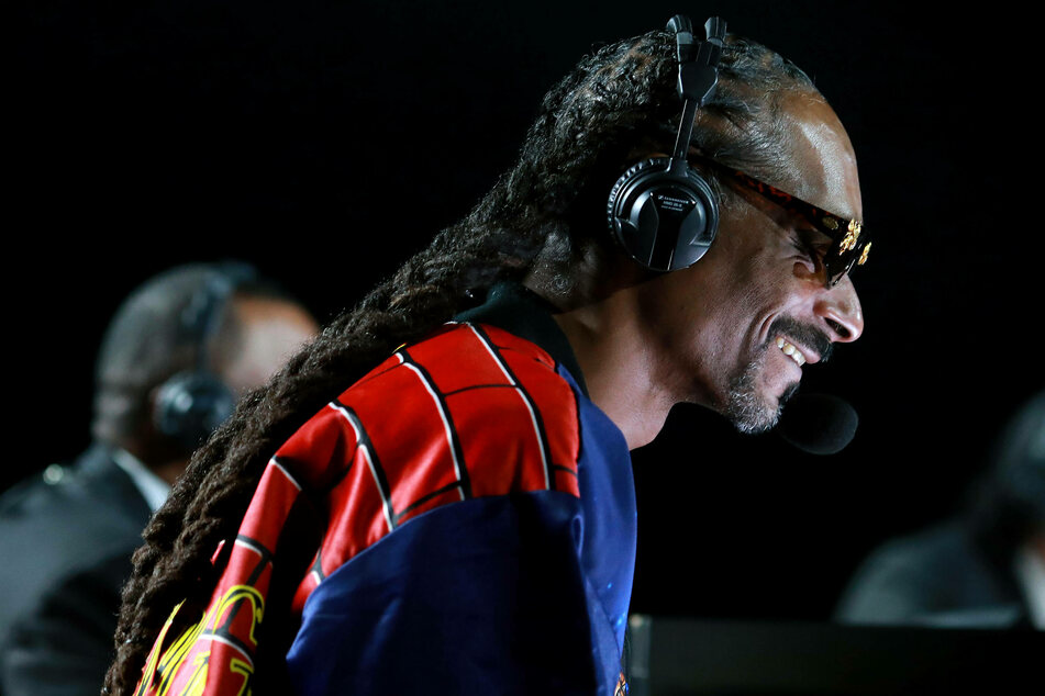 Snoop Dogg performs at the Tyson vs Jones Jr. exhibition fight presented by Triller at Staples Center in Los Angeles.