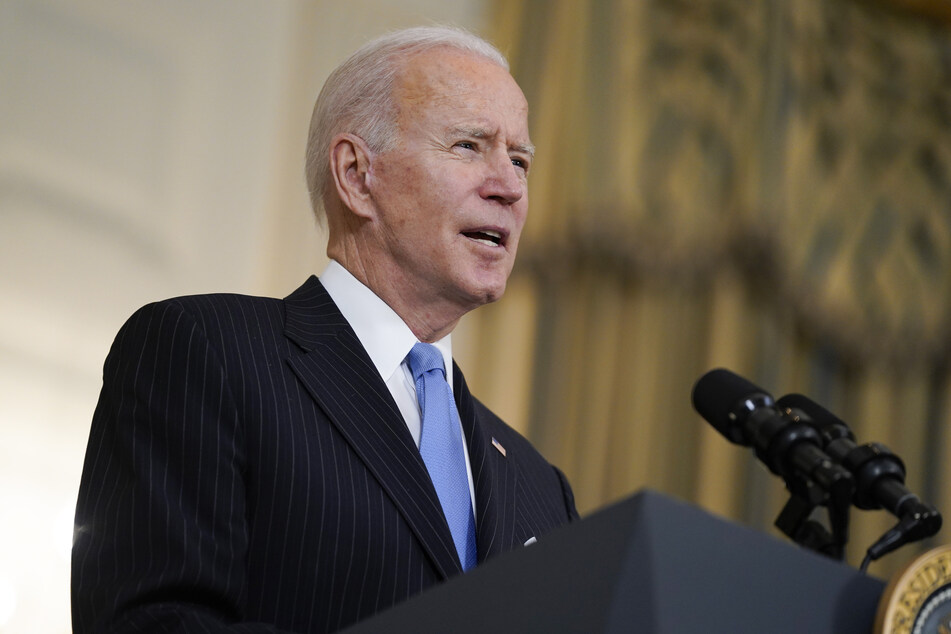 """US-Präsident Joe Biden (78) will """"bis Ende Mai"""" genügend Impfstoff für alle Erwachsenen in den USA haben."""