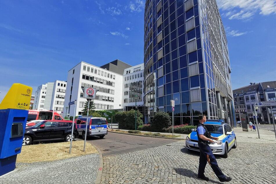 Am Donnerstag erhielt das Technische Rathaus in Leipzig zum wiederholten Mal einen anonymen Drohanruf. (Archivbild)