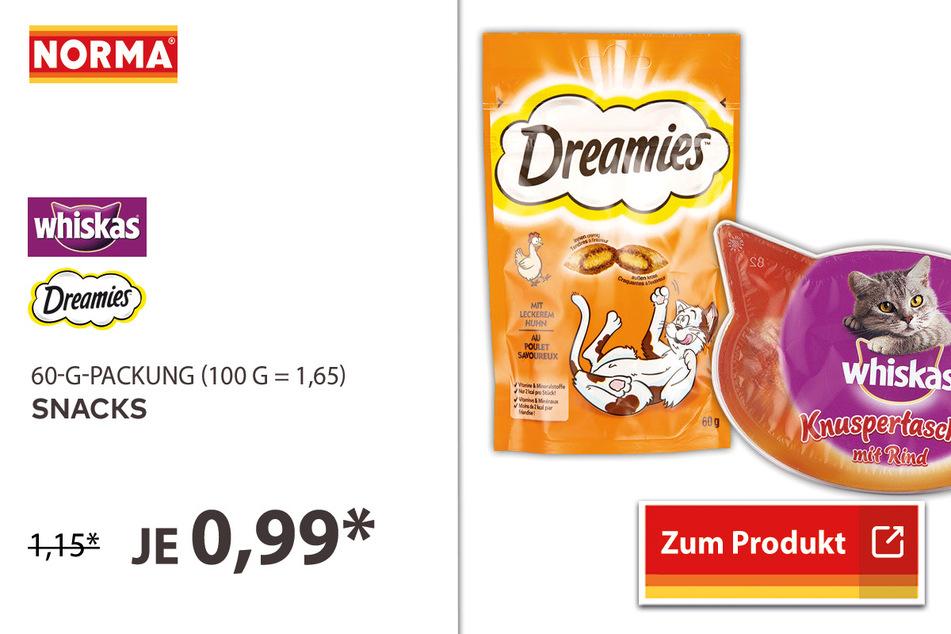 Katzen Snacks für 0,99 Euro