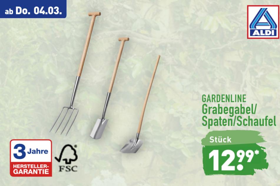 Gartengeräte von Gardenline ab Donnerstag für 12,99 Euro bei ALDI in Genthin