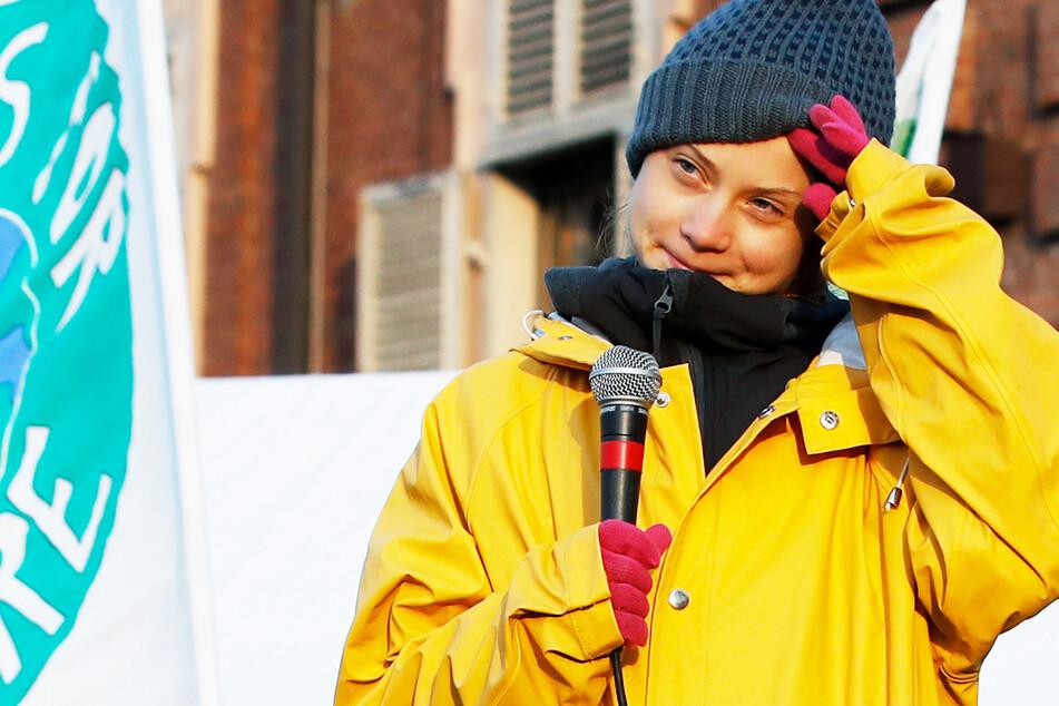 Greta Thunberg (18), Schülerin aus Schweden, bei einer Demonstration fürs Klima.