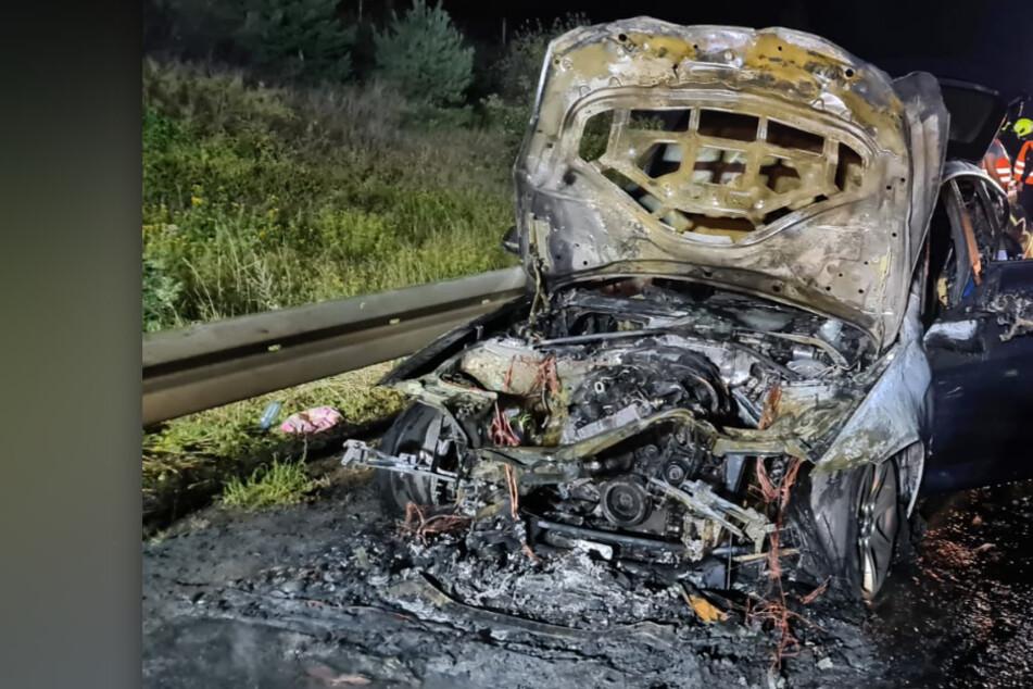 BMW auf A3 in Flammen! Feuerwehr muss anrücken