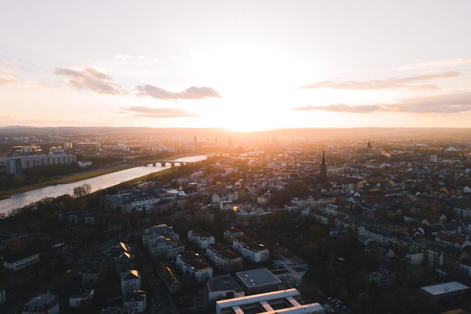 Luftaufnahme von Dresden. (Foto: Andreas Kind)