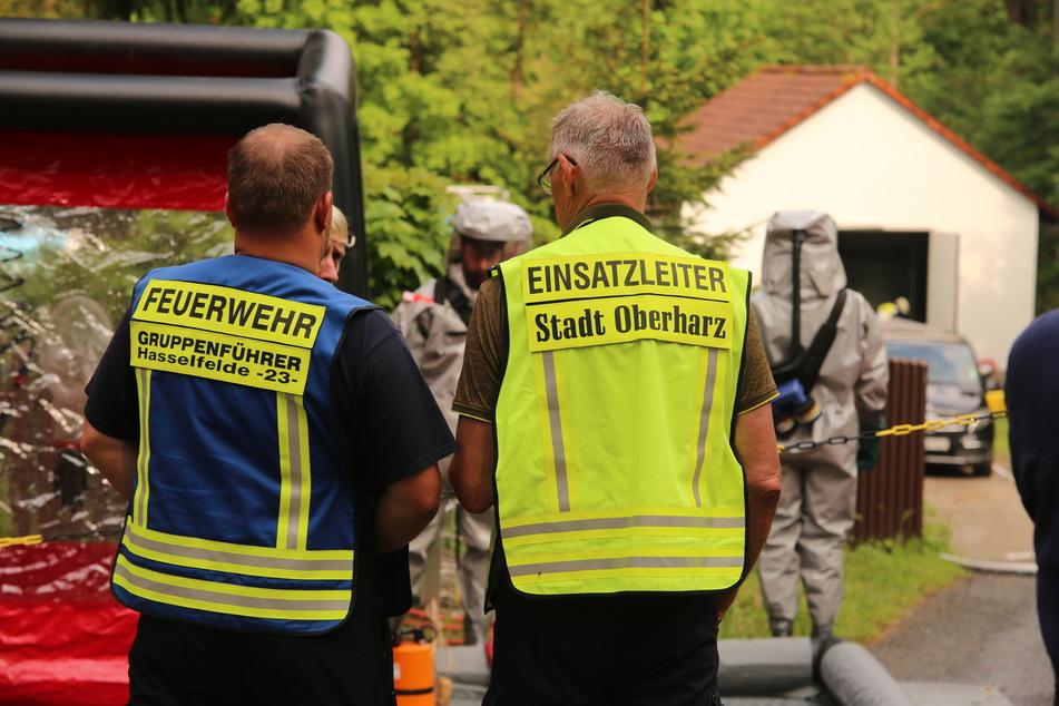 Zu einer Explosion in einer Chlorgasanlage kam es am Dienstag in einem Waldseebad im Harz. Gas trat aus, eine Person wurde leicht verletzt.