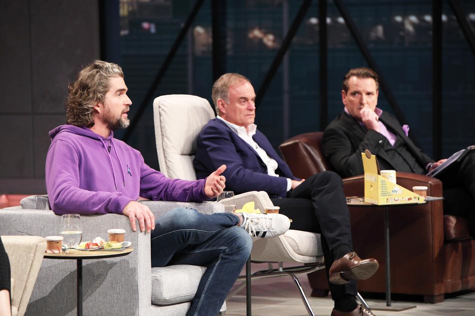 Die Unternehmer Nils Glagau (45), Georg Kofler (63) und Ralf Dümmel (54) gehören zu den Löwen, die in Start-up-Firmen investieren.
