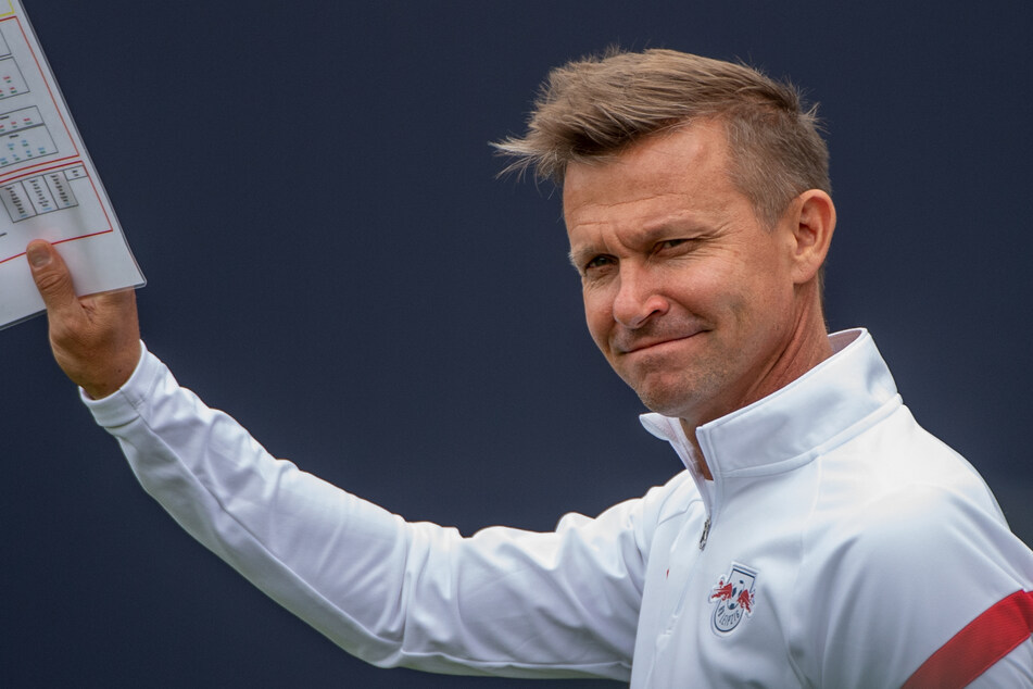 RB Leipzigs Trainer Jesse Marsch (47) bleibt angesichts der Transfer-Phase gelassen.