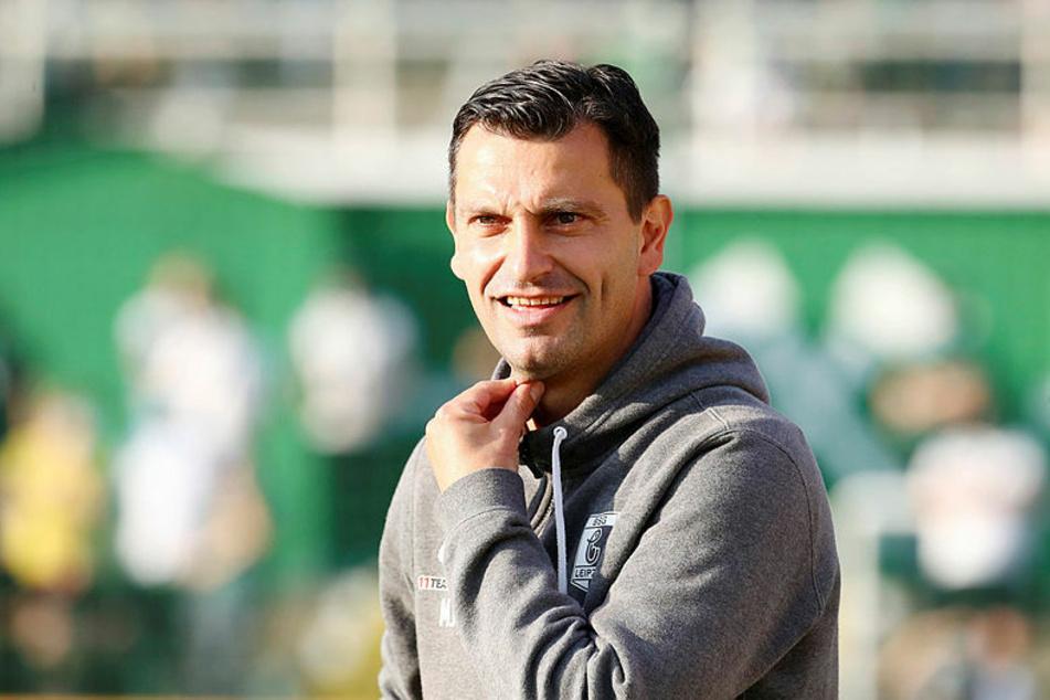 Trainer Miroslav Jagatic ist mit seiner BSG Chemie Leipzig mit einem souveränen Sieg ins Sachsenpokal-Achtelfinale eingezogen. (Archivbild)