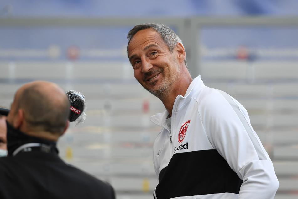 Eintracht-Coach Aci Hütter (50) will die Partie bei den Bayern keinesfalls im Vorfeld abschenken.