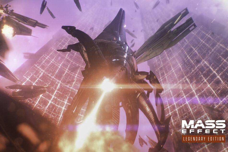 Ein Exemplar der Reaper, einer hochentwickelten Maschinenrasse, demonstriert eindrucksvoll seine Zerstörungskraft.