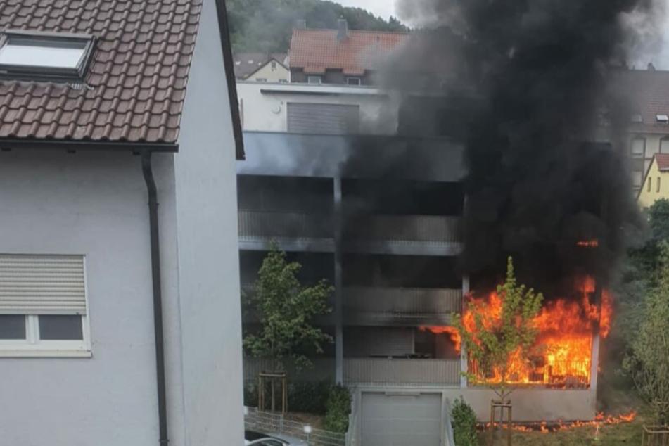 Flammen in Pforzheim: Gasflasche explodiert!