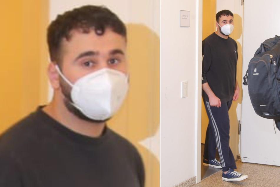 Abdul Majed Remmo (22) wurde am Dienstag dem Haftrichter in Dresden vorgeführt.