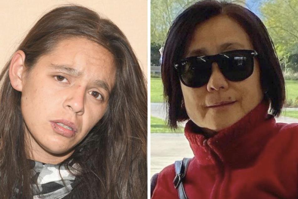 Darlene Montoya (23, l.) has been arrested on suspicion of killing Ke Chieh Meng (†64) in Riverside (collage).