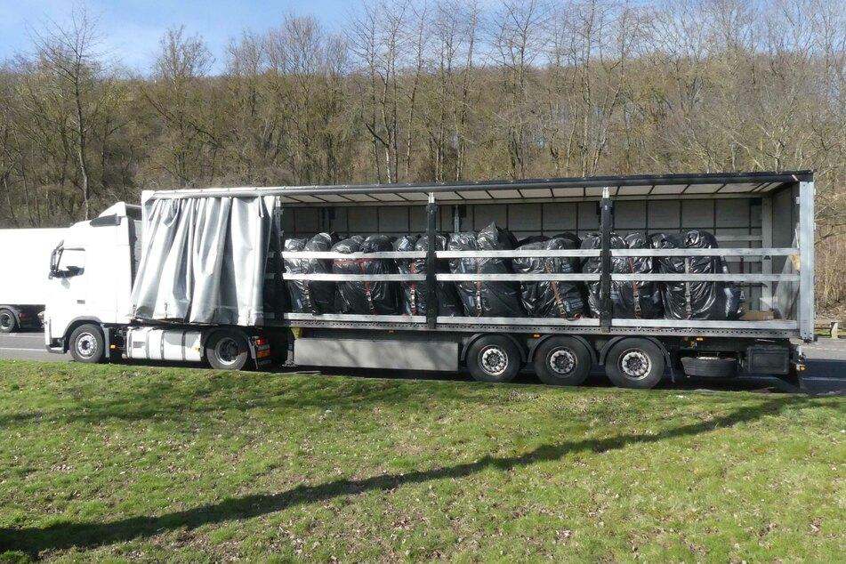 Auf dem Lastwagen waren 20 sogenannter Big Packs geladen.