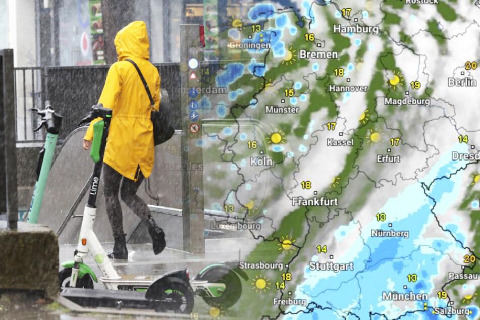 Das Wetter in Deutschland bleibt bewölkt und regnerisch.