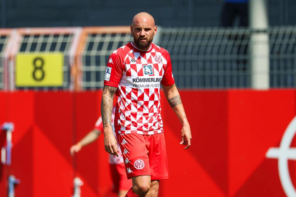 Ex-Dynamo-Abwehrrecke Giuliano Modica (30) führt mit dem 1. FSV Mainz 05 II die Tabelle der Regionalliga Südwest an und gewann mit seinem Team auch gegen die SG Sonnenhof Großaspach.