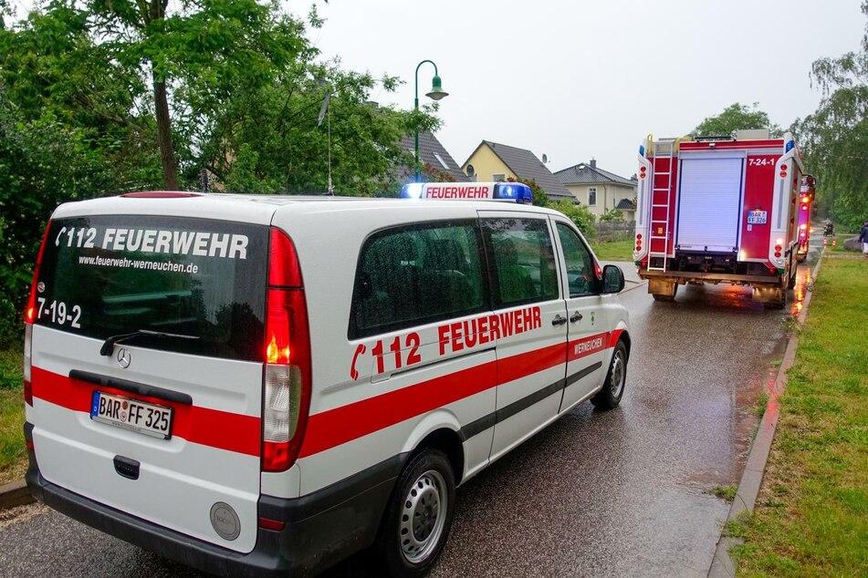 In Brandenburg kam es am Samstagabend zu Hunderten Unwetter-Einsätzen.