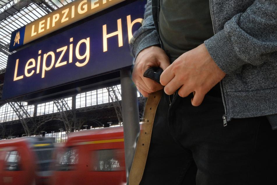Mehrmals zog der junge Mann auf dem Bahnhofsgelände blank.