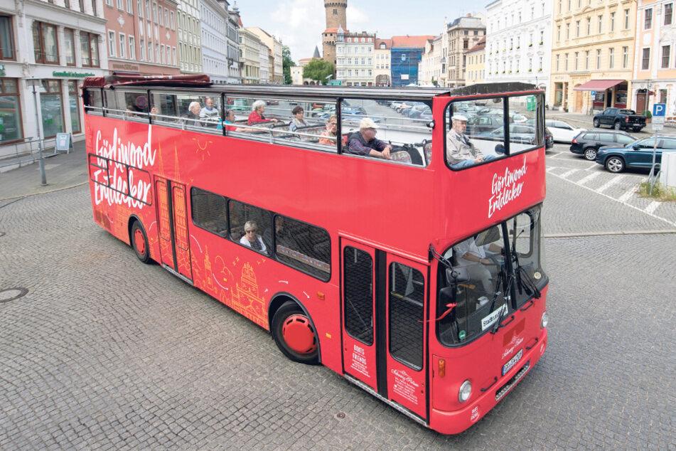 Wirbt mit Fahrten für die Filmstadt: der Görliwood-Bus.