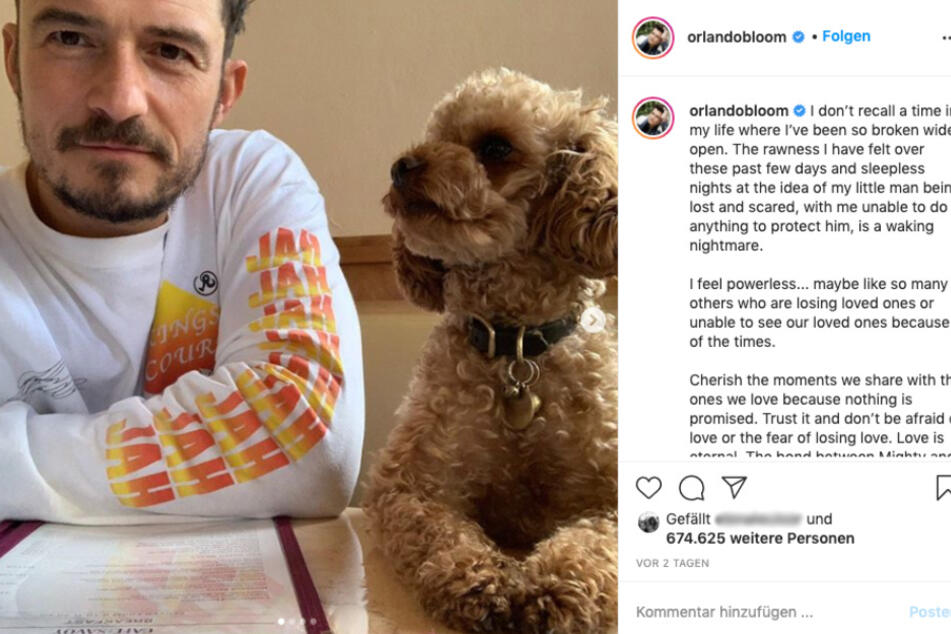 Orlando Blooms Hund ist tot: