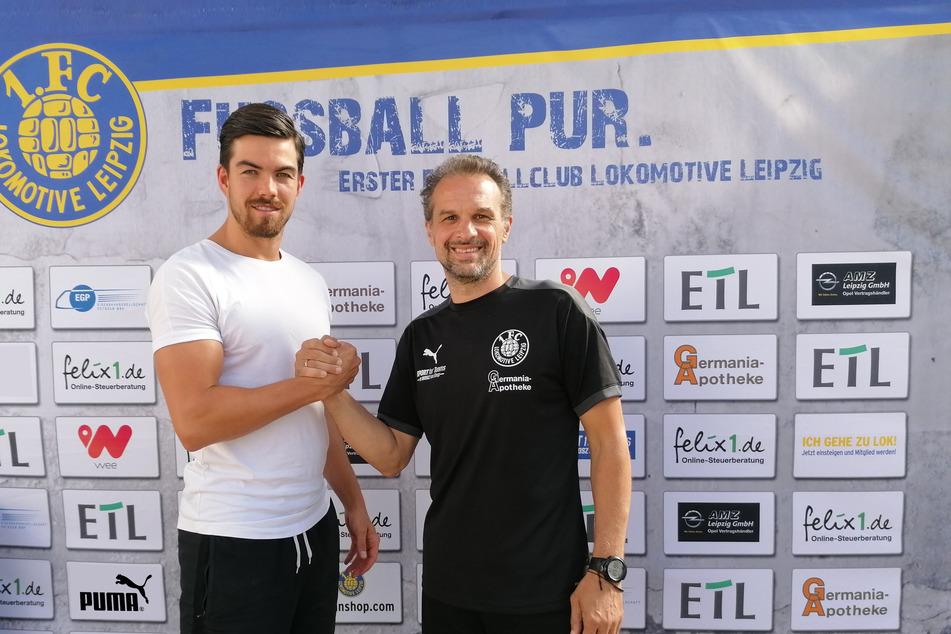 "Mike Egsleder (27,l.) hat bereits 205 Regionalligaspiele auf dem ""Buckel""."