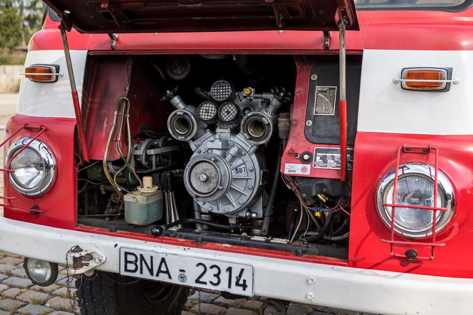 Die Vorbaupumpe im Robur schafft 1600 Liter in der Minute bei einem Druck von 8 Bar.