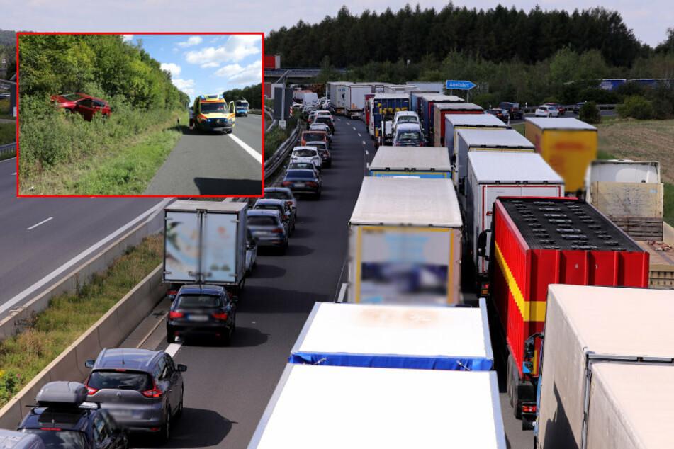 Mega-Stau! Mehrere Unfälle auf A4 Richtung Chemnitz