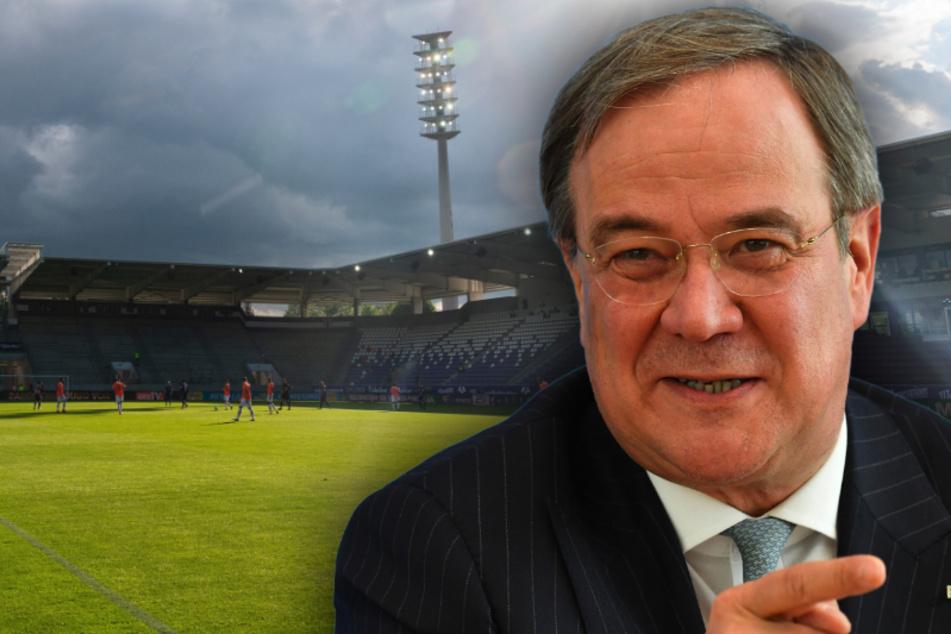 30 Jahre Freistaat Sachsen: Laschet spricht vor 2000 Gästen im Erzgebirgsstadion